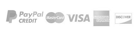 PayPal, MasterCard, VISA, AMEX, Discover